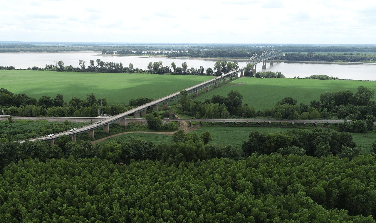US 51 Bridge Kentucky Looking West towards Illinois